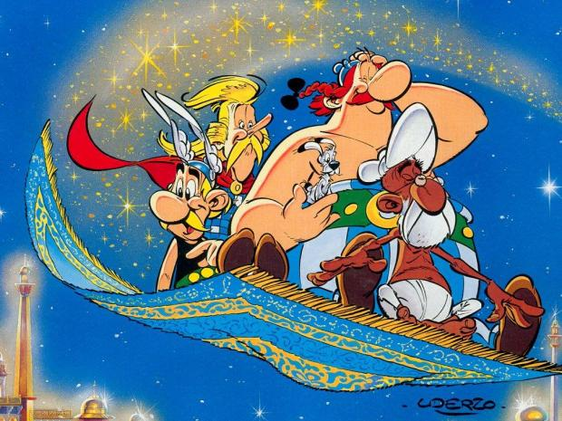 Asterix and black gold flying carpet