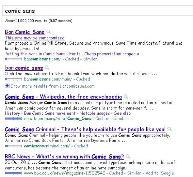 google comic sans april fools font