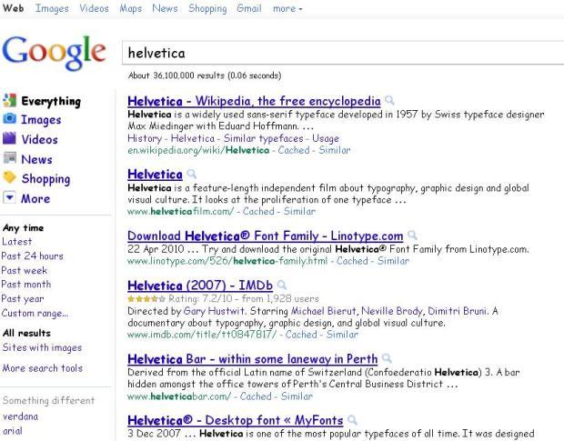 google helvetica