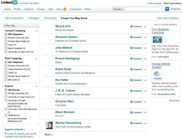 linkedin People you may know april fools