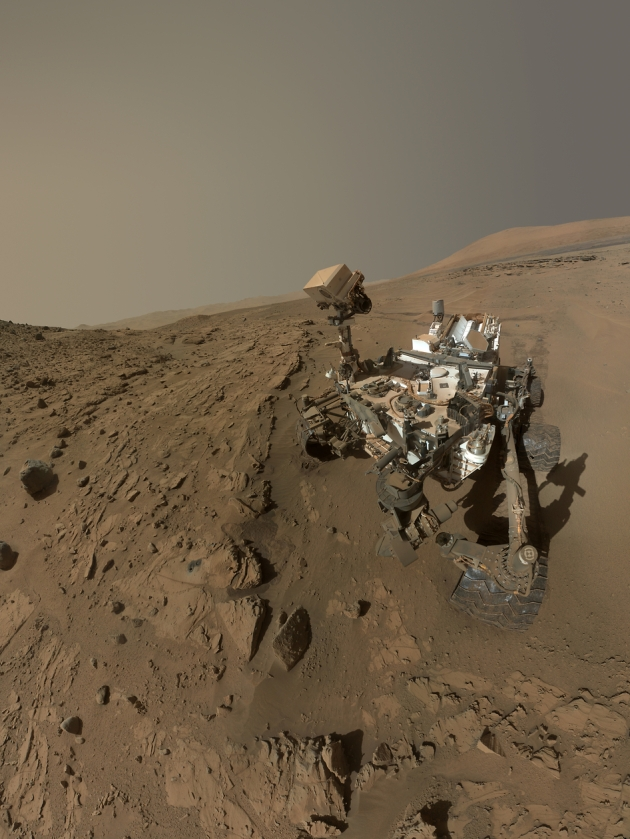 """Curiosity Self-Portrait at 'Windjana' Drilling Site"""